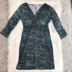 Knot front dotted dress